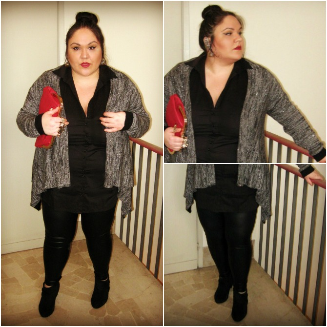outfit plus size con earcuff