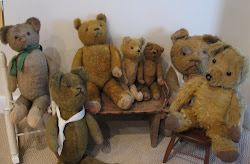 Early Straw Stuffed Mohair Bears