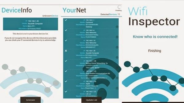 برنامج wifi inspector 2014 للاندرويد لمراقبة شبكة الواى فاى اخر اصدار