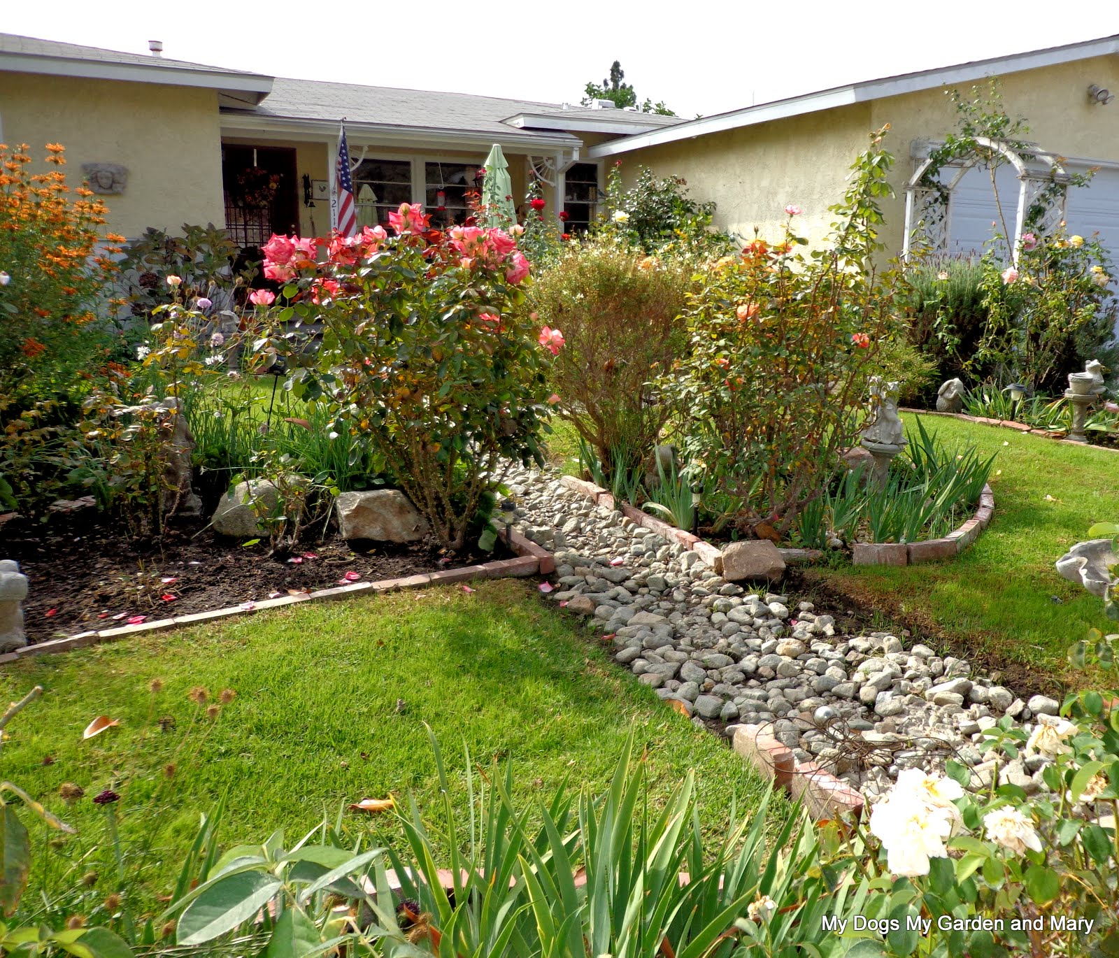 100 backyard dry creek bed how do you drain water off lawns