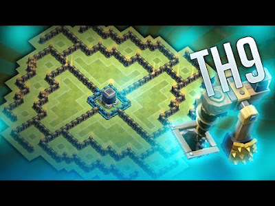 Base Farming TH9 Kotak Terbaru 2016 Clash Of Clans