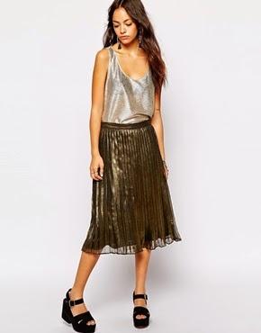 faldas plisadas metalizadas
