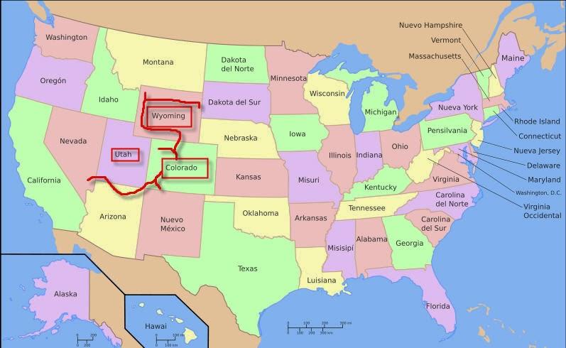 Ver Mapa De Usa Mapa Mundi De Usa El Mapa De Usa Mapa De Texas - Mapa de colorado usa