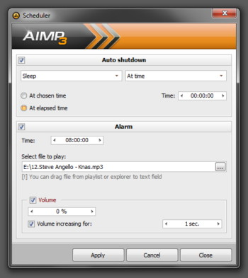 AIMP Simple Scheduler