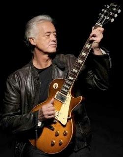 Jimi Page, do Led Zeppelin, tocando uma Les Paul
