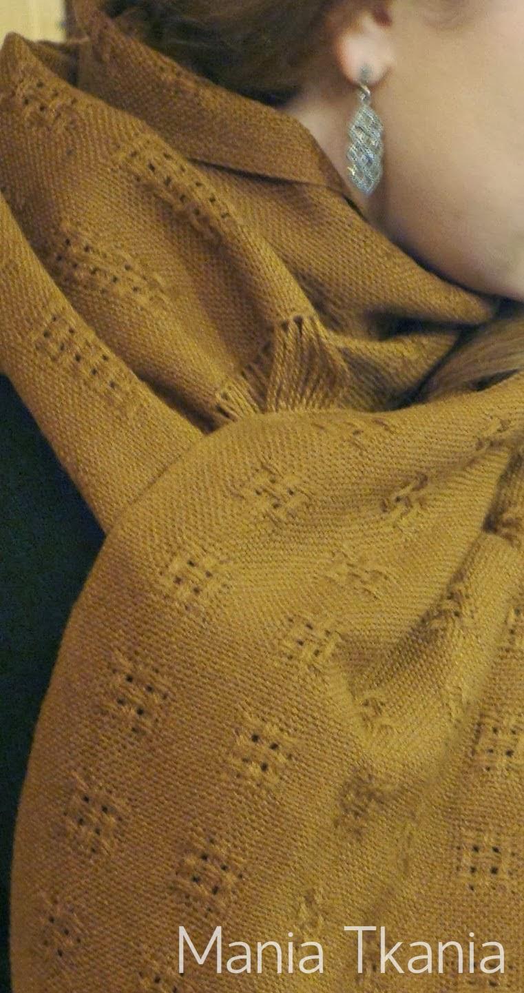 ręcznie tkany szal