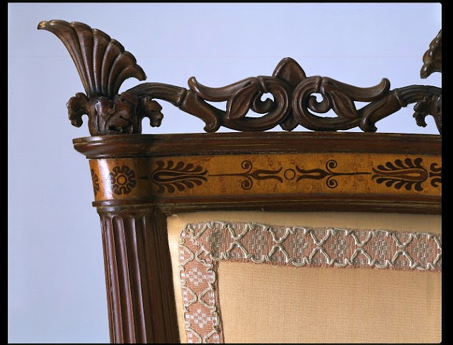 Palagi, Filippo Pelagio, Chair, Turin, Italy, 1838-1840 (made), Maple and mahogany veneer, on a mahogany carcase,