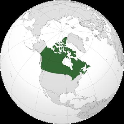 Mapa de Canadá en Mundo