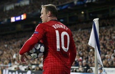 Rooney playing against Real Madrid