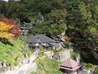 Looking along path at Yamadera
