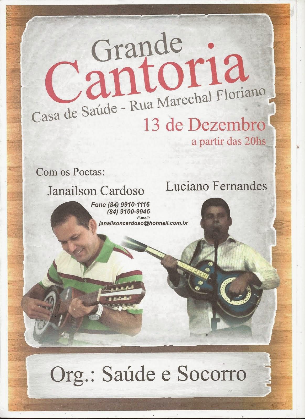 CONVITE DE CANTORIA!