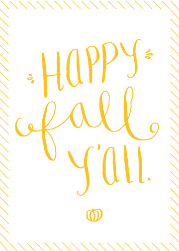 Amazing image for happy fall yall printable