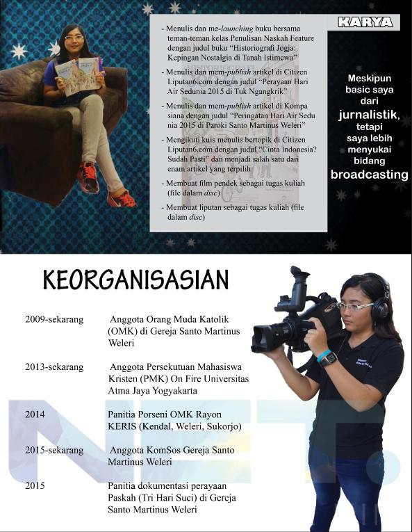 Catatan Mahasiswa Jurnalisme Contoh Cv Kreatif