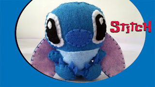 Stitch felt plush with Bubs B4Astudios