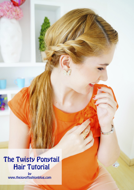 Twisty Ponytail Hair Tutorial