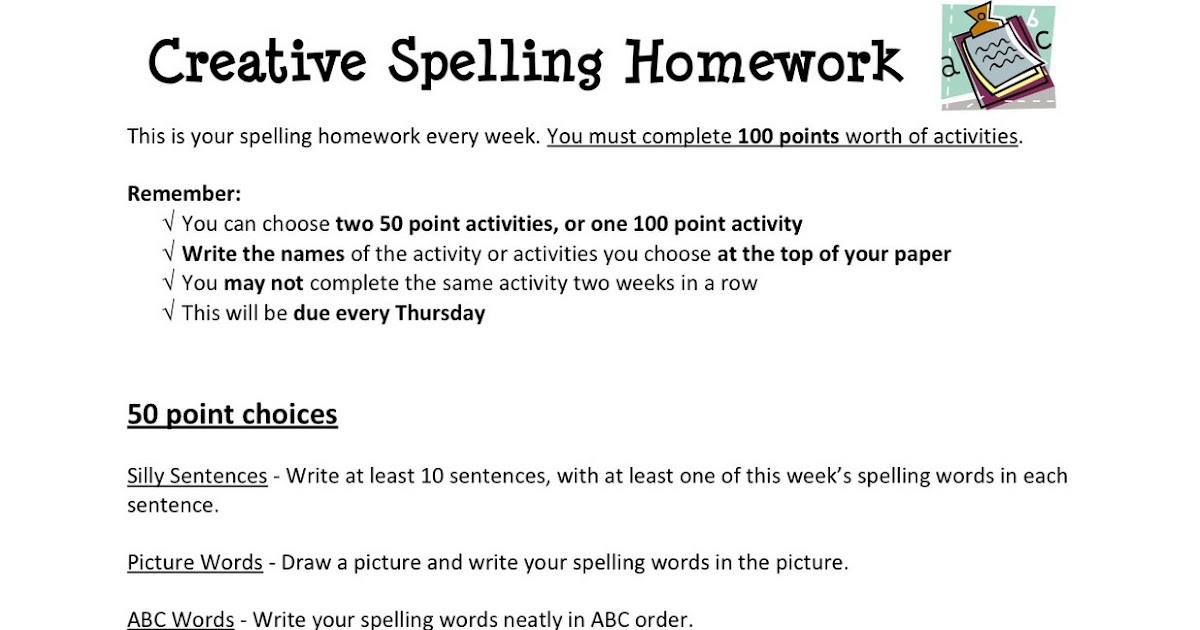 Do my spelling homework