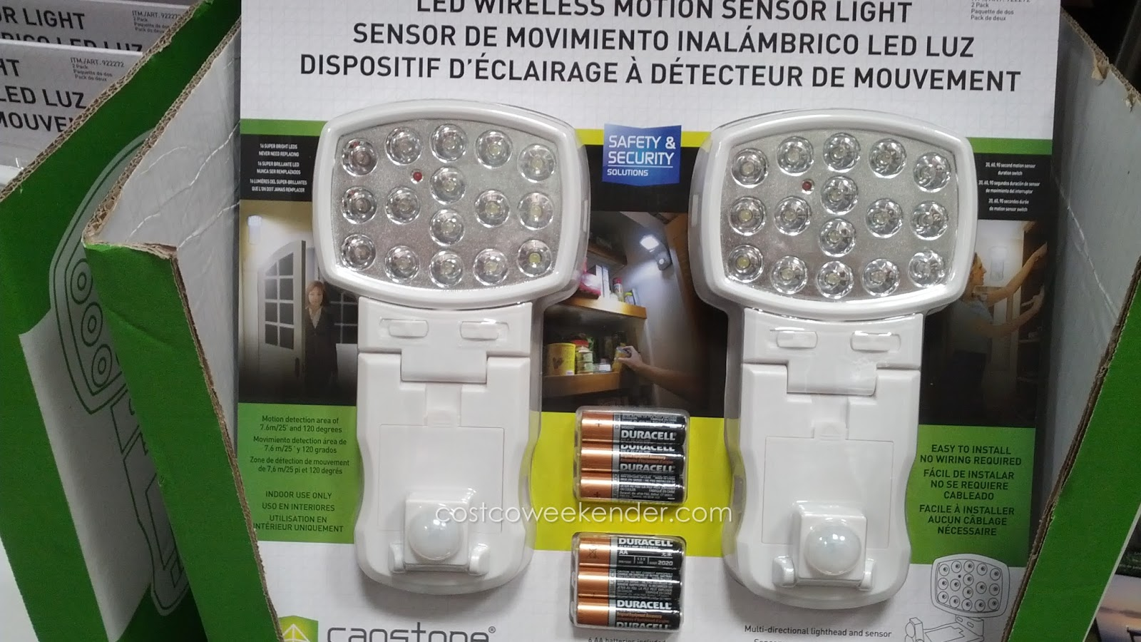 Add lighting easily with no wires with the Capstone LED Wireless Motion Sensor Light & Capstone Lighting LED Wireless Motion Sensor Light (2 pack) | Costco ...