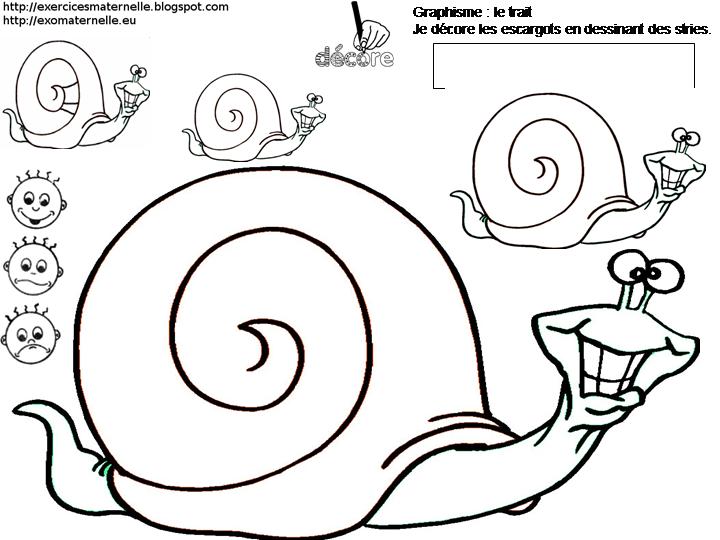 Maternelle graphisme et criture en cursives avec des - Escargot maternelle ...