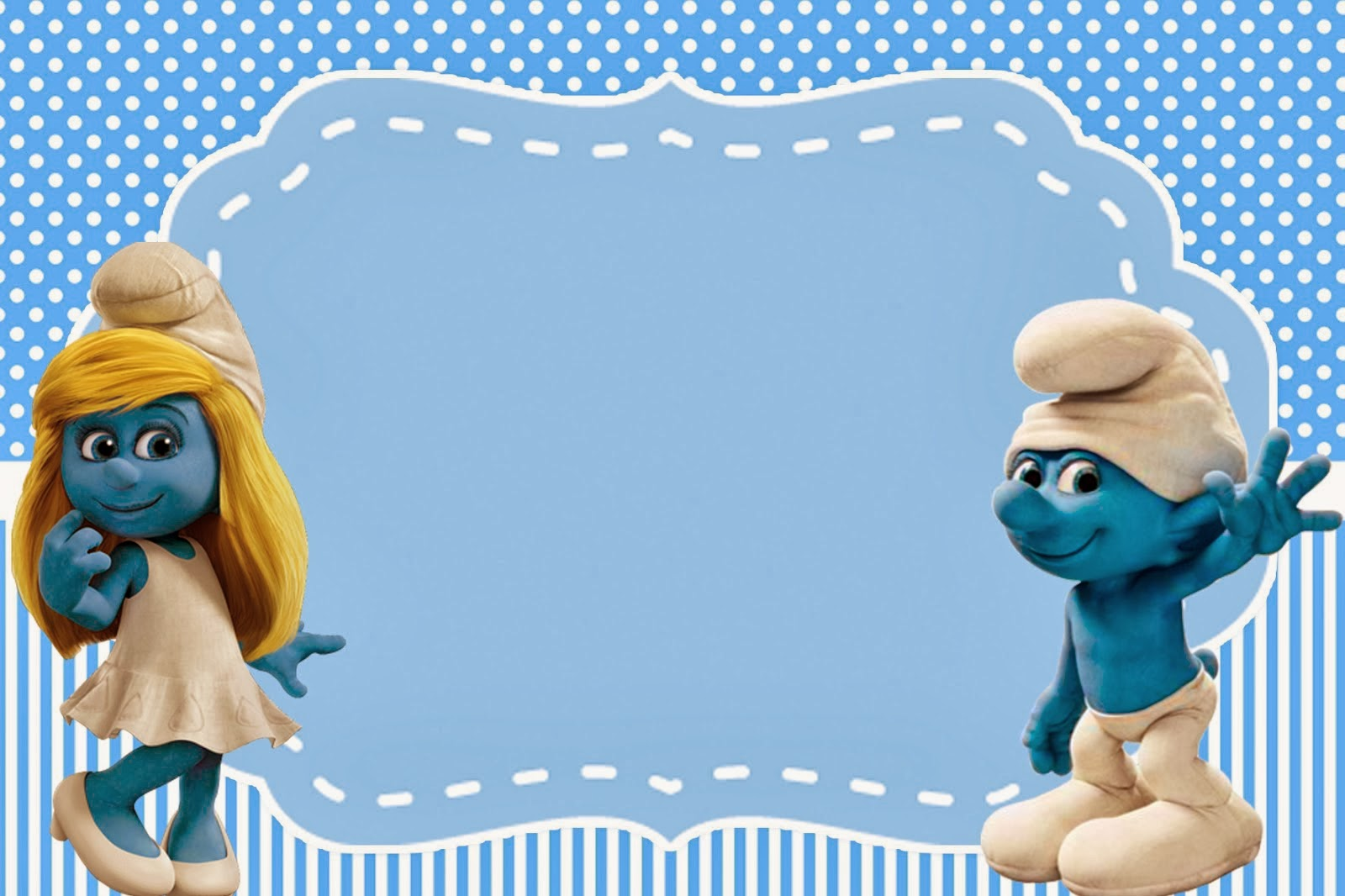 Smurfs: Invitations and Party Free Printables, for Boys Party. | Is it for PARTIES? Is it FREE ...