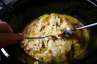 Shredded chicken over rice recipe
