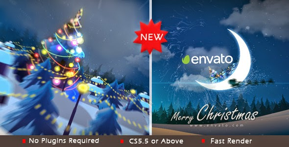 VideoHive Christmas in moon