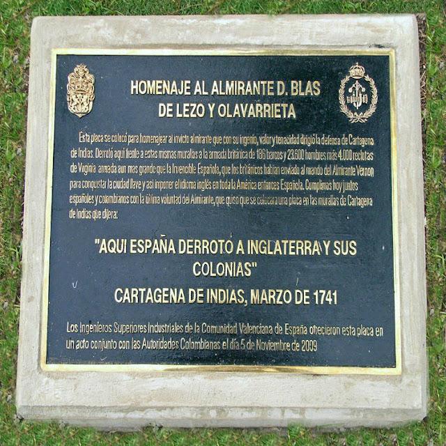 Placa Lezo, Cartagena de Indias