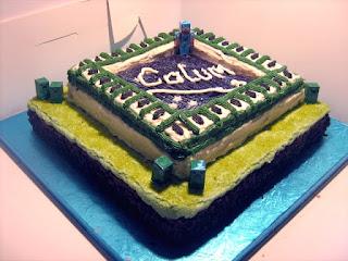 Minecraft Ender Portal Birthday Cake