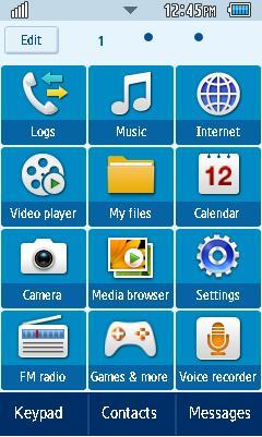 Samsung GT-C6712 Default Theme Free Download Menu