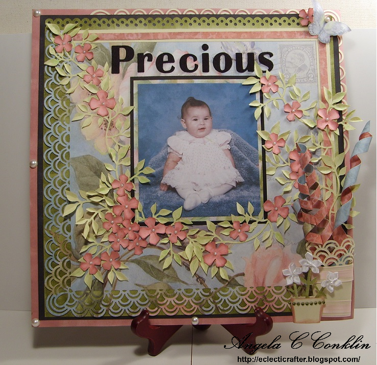 Flower and Vine Scrapbook Layout