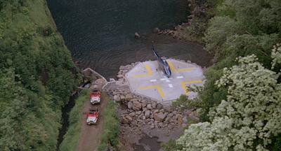 Jurassic Park arrival on Isla Nublar