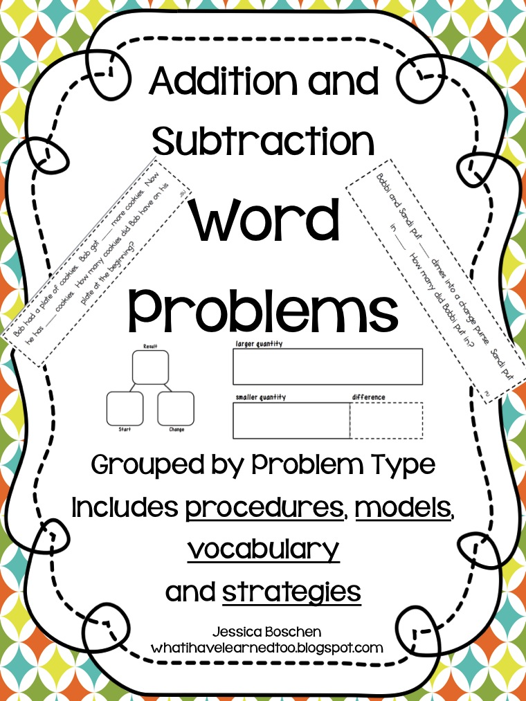 Revised Addition & Subtraction Work Problems Packet