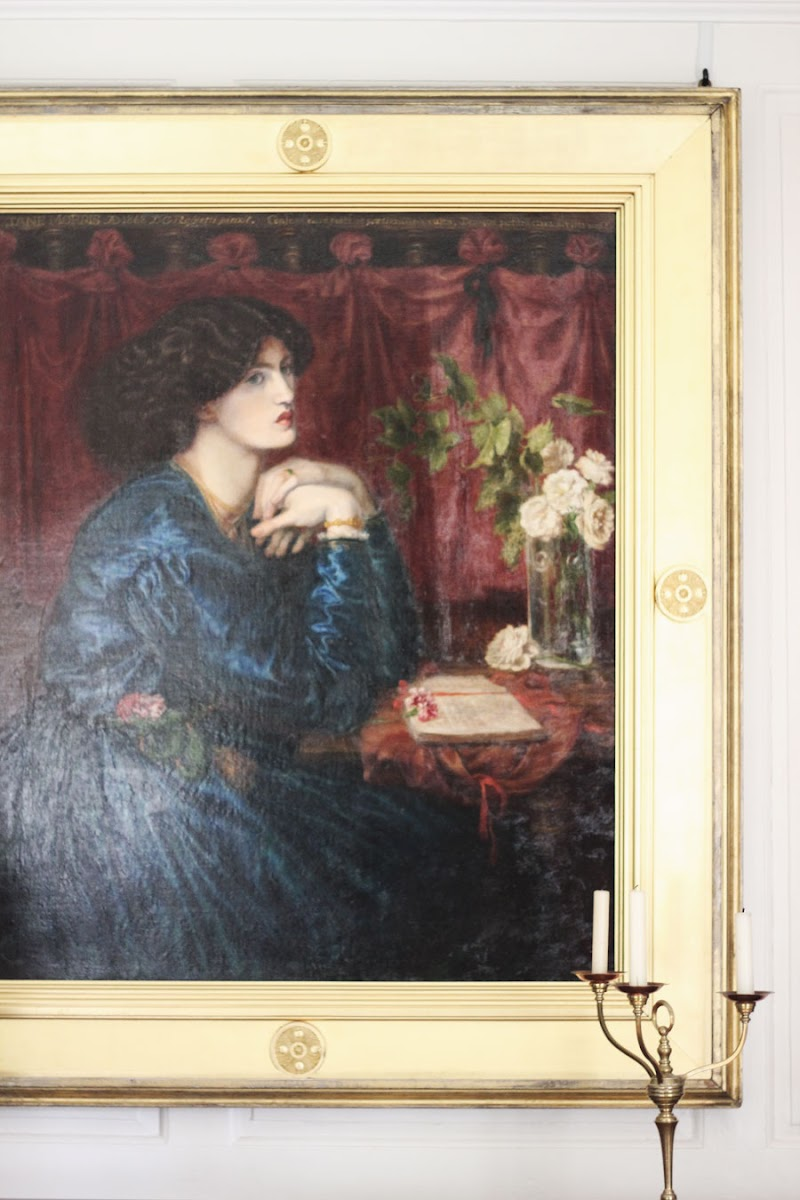 dante rossetti blue silk dress kelmscott