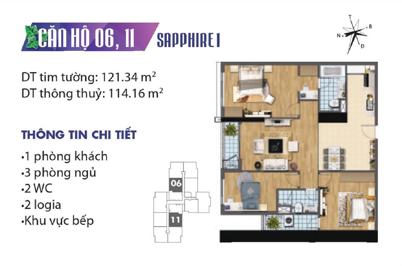 Chung Cư Goldmark City Tòa SapPhire 1