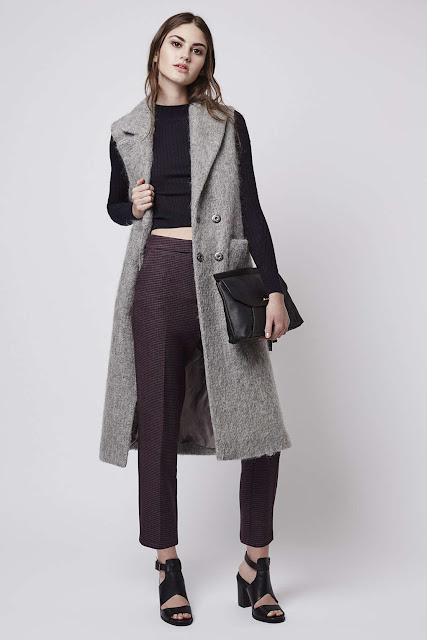 topshop burgundy trousers, burgundy dogtooth trousers,