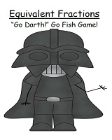 Fern's Freebie Friday ~ Go Darth! Equivalent Fractions Go Fish Card Game