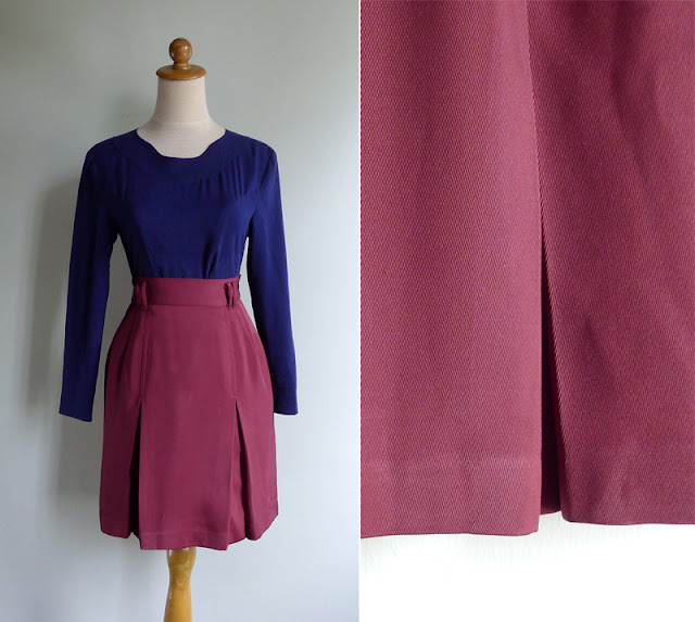 vintage 70's pleated band camp skirt