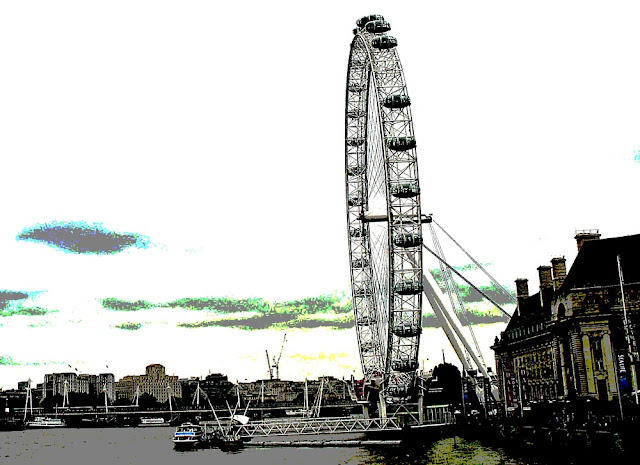 illustration of the iconic London Eye