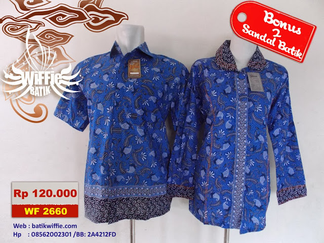 Batik Couple Warna Biru