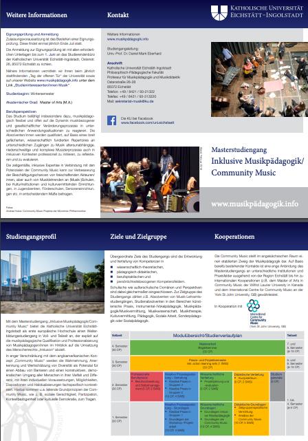 MA inklusive Musikpädagogik/Community Music
