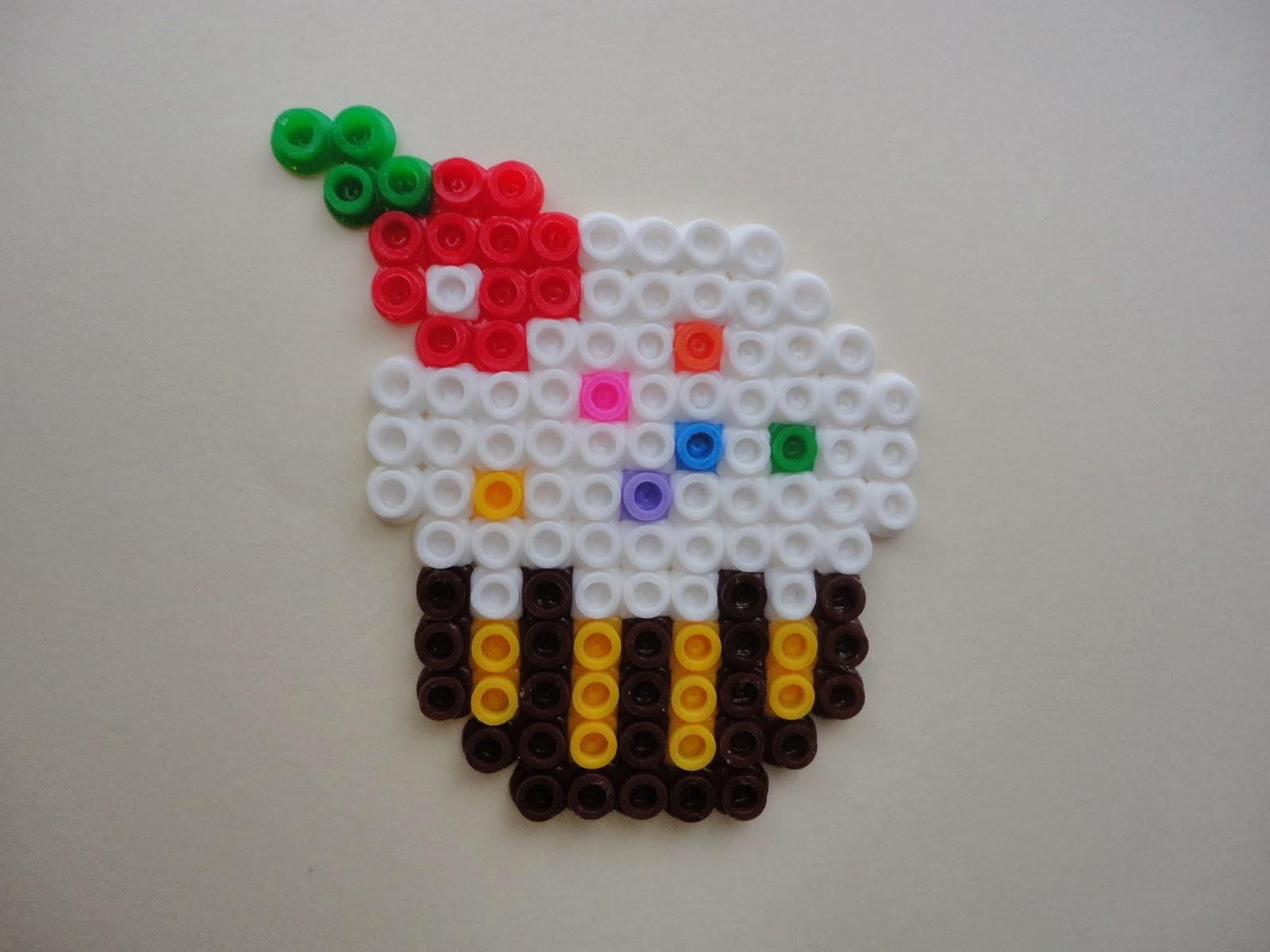 Pixel Art-E: Cupcake en Pyssla