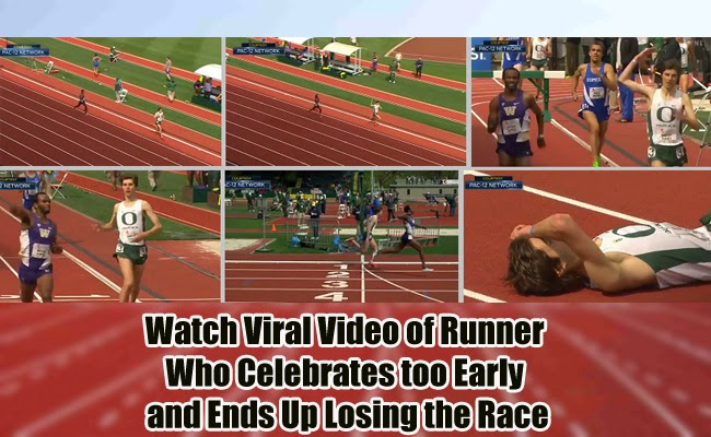 Watch Viral Video of Runner Who Celebrates too Early and Ends Up Losing the Race