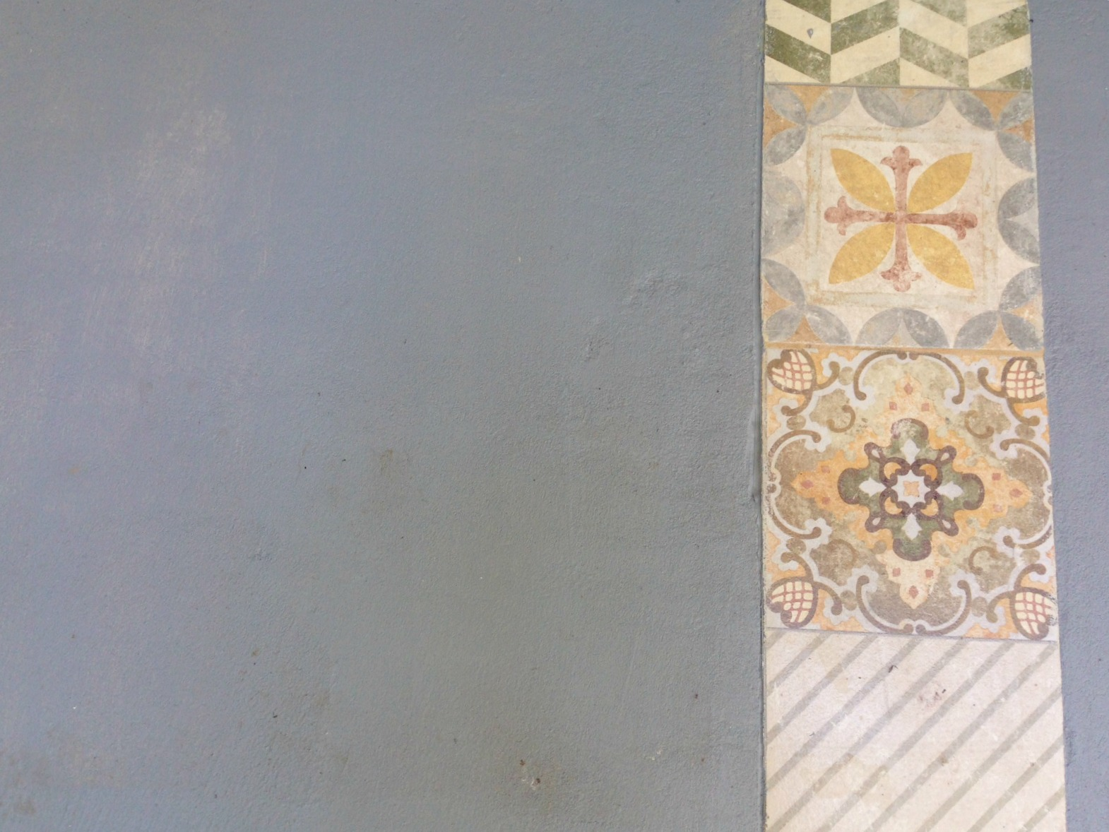 cemento alisado con piso calcareo