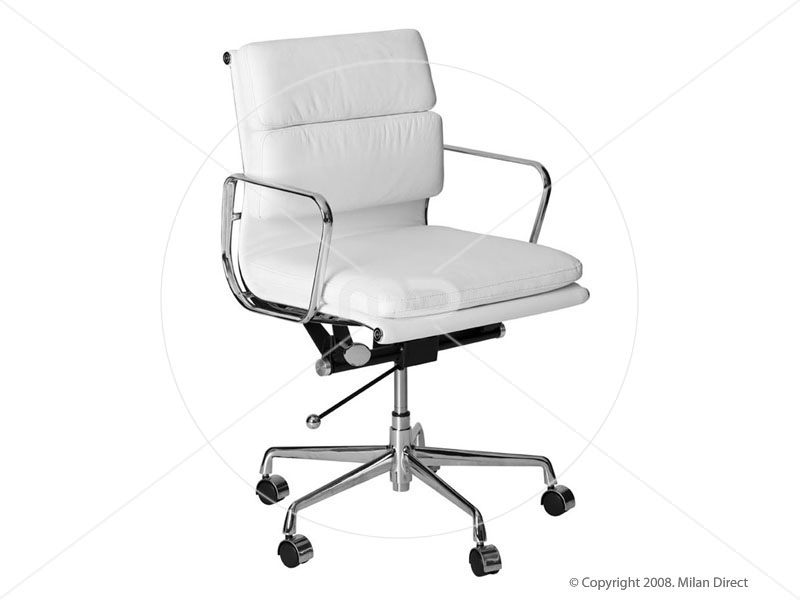 white leather office chairs are usually preferred once the inside