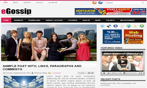 eGossip Blogger Template