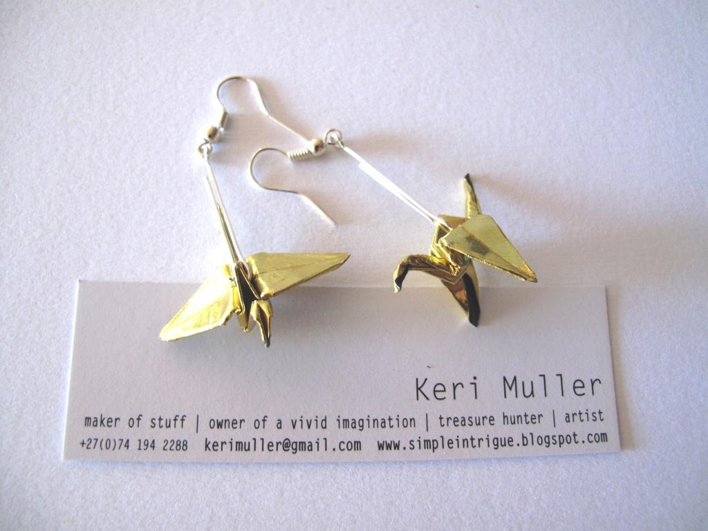 Origami Earrings  Made By Keri Muller (simpleintrigue)