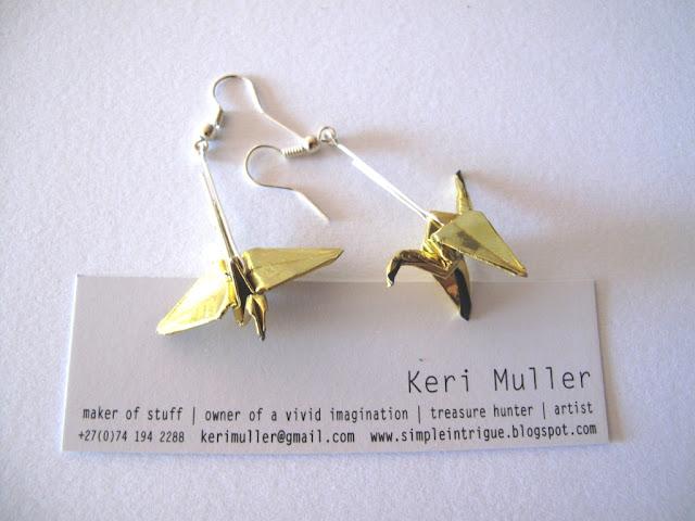 Origami Earrings  - Made by Keri Muller (simpleintrigue)