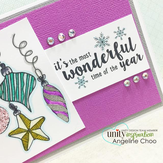 ScrappyScrappy: Glitter emboss Christmas card #scrappyscrappy #unitystampco #stamp #card #christmas #zingemboss #glitter