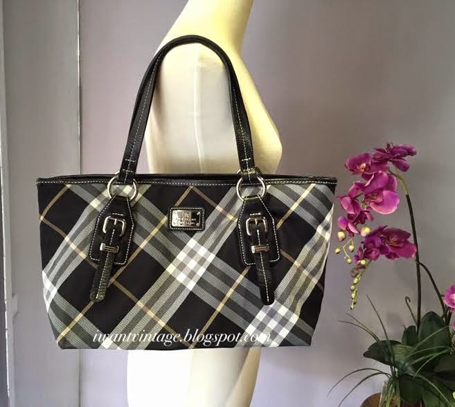 817ea9affa18 Burberry Blue Label Top Handle Bag-Black