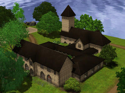 monastery back