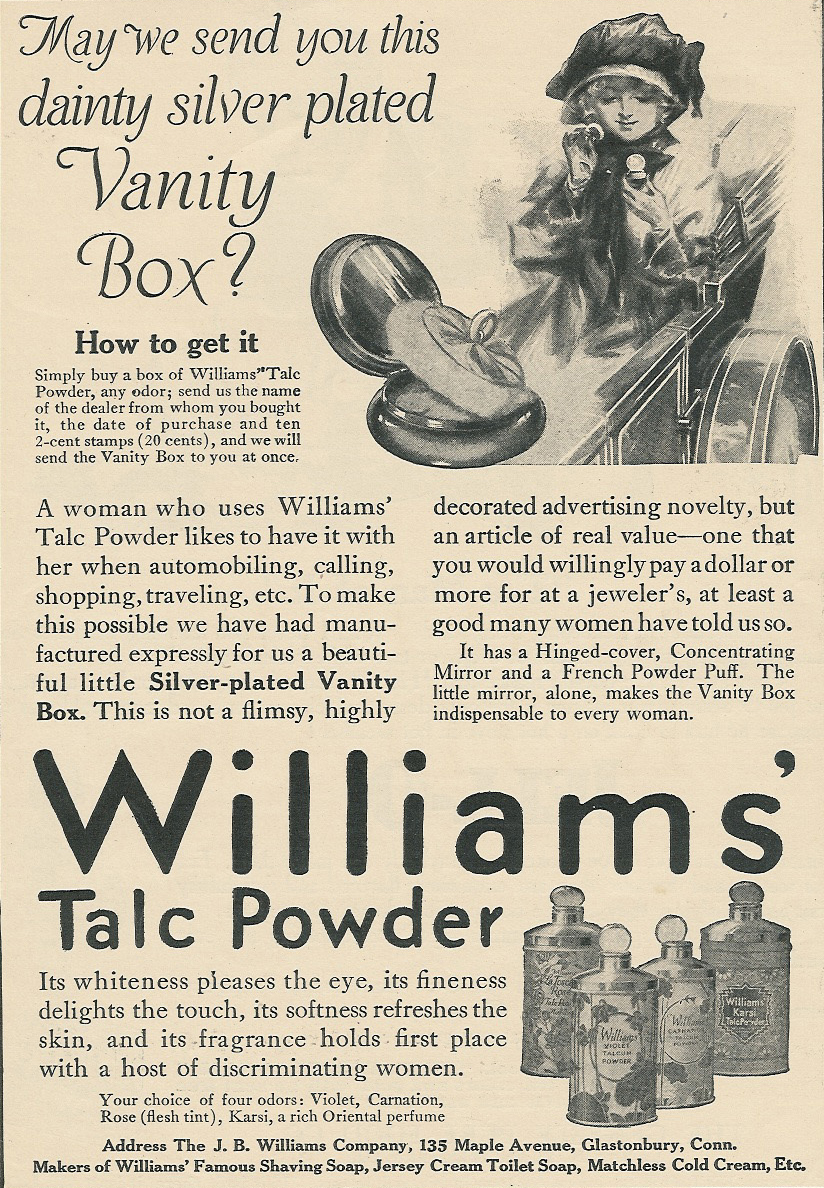 1900 D Williams Jersey Cream Toilet Soap Violets Flower Art Series No 5 Ad Advertising Collectibles